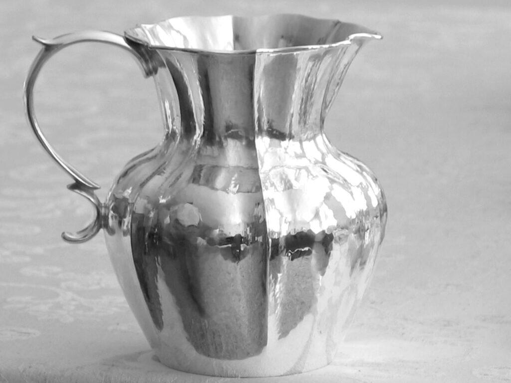 boccale in argento stile '700 per arredo casa