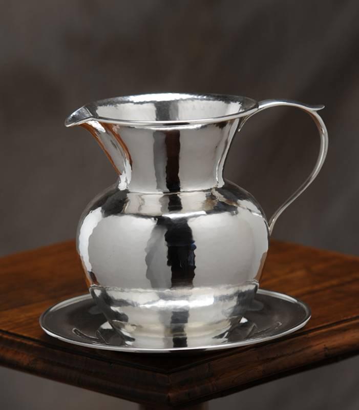 boccale in argento stile inglese fatto a mano
