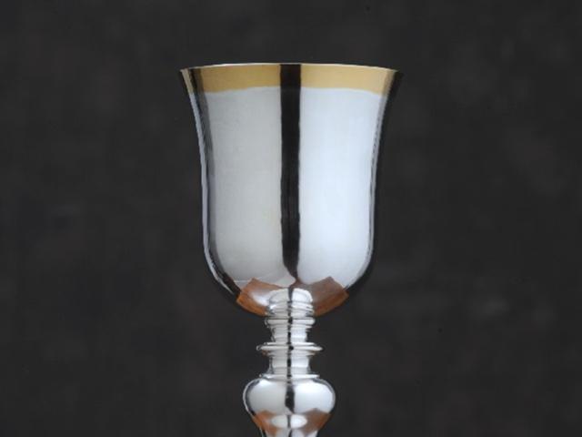 calice in argento st.'700 fatto a mano