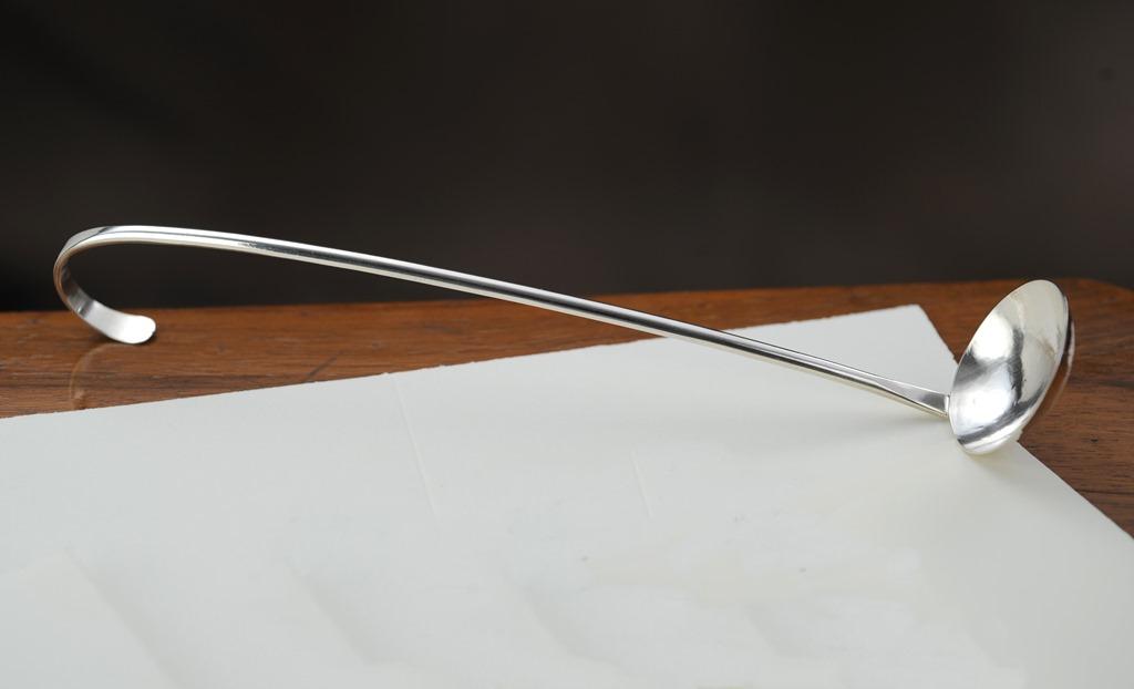 mestolino amarena in argento lungo fatto a mano