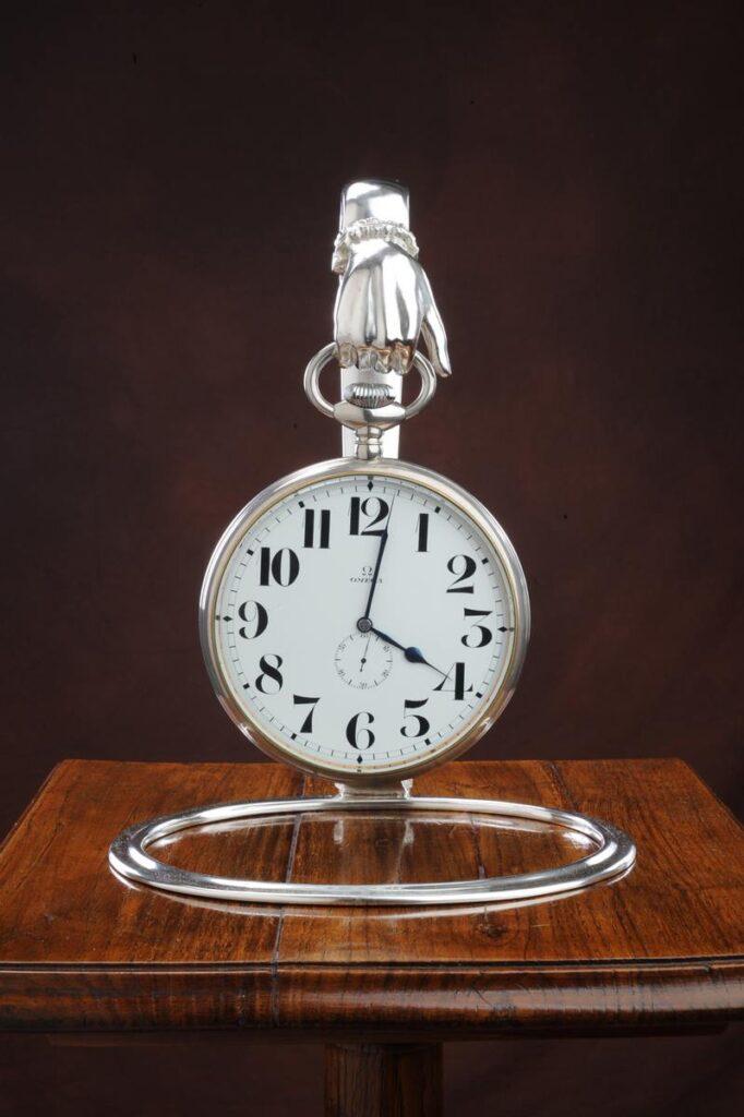 porta orologio in argento per arredo casa