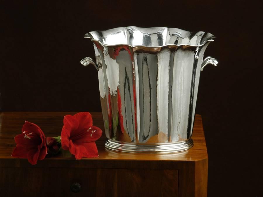 secchio champagne in argento stile '700 veneziano