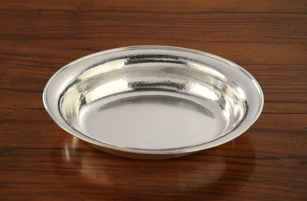 vaschetta in argento ovale per arredo casa