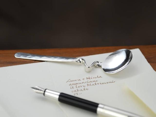 Cucchiaino marmellata con appoggio in argento