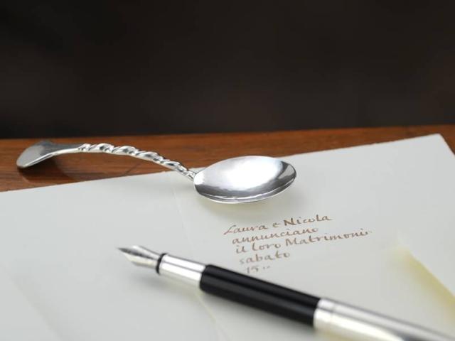 Paletta, bomboniera sessola zucchero stile San Marco in argento