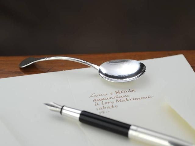 Paletta, sessola zucchero  in argento